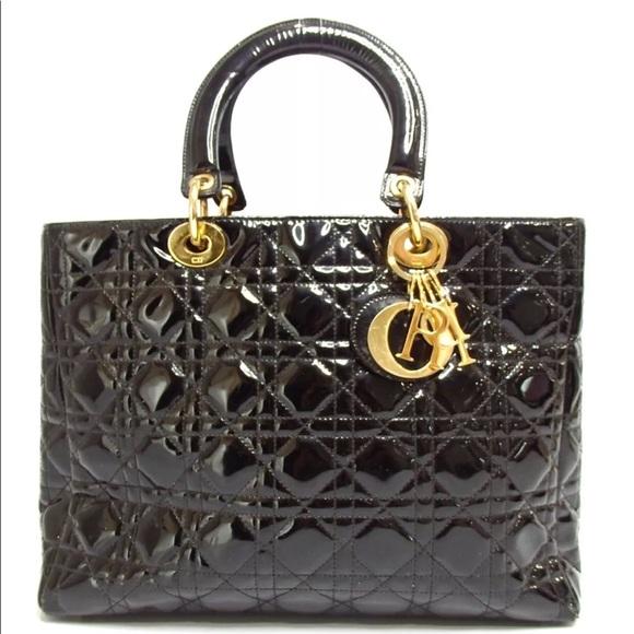 7edd5349f96 Dior Bags   Cannage Patent Leather Satchel   Poshmark